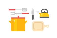 キッチン用品のリユースと寄付
