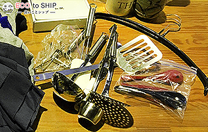 届いたお鍋やフライパン、その他調理器具などのキッチン用品、スプーン・フォーク・ナイフなどカトラリー類 6