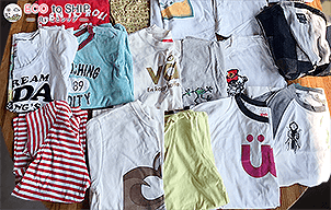届いた洋服や子供服などの衣類(古着)3