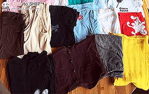 届いた洋服や子供服などの衣類(古着)5