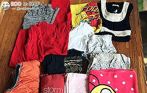 届いた洋服や子供服などの衣類(古着)8