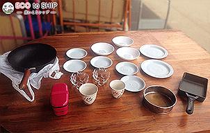 届いたお皿やお椀などの食器類 2